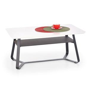 Konferenční stolek REDO-2, bílá/černá
