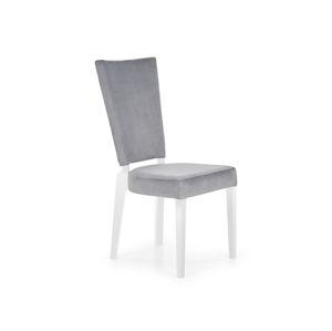 Jídelní židle ROIS, šedá/bílá