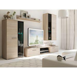 Obývací stěna SALIZA, dub sonoma