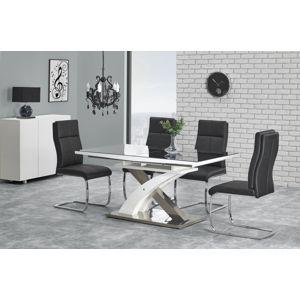 Jídelní stůl rozkládací SANDOR-2, 160/220x90 cm, černý