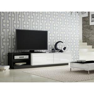 Televizní stolek RTV SIGMA 2B, bílá/černá