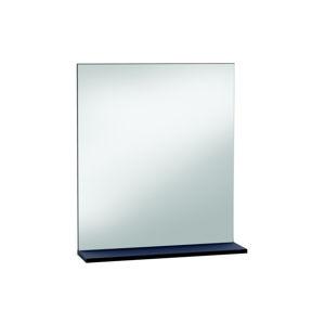 THAIS, zrcadlo  s poličkou, bílá/čedič, zrcadlo  s poličkou, bílá/čedič
