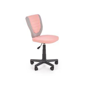 Dětská kancelářská židle TOBY, šedo-růžová