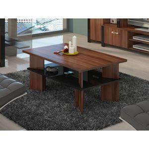 Konferenční stolek VECTRA 2, švestka wallis/černý lesk