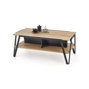 Konferenční stolek VOLTA, dub zlatý/černá