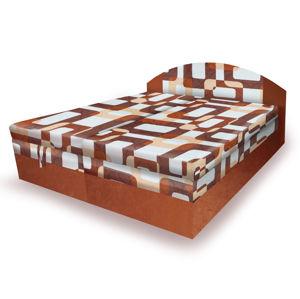 Polohovací čalouněná postel VESNA 180x200 cm, hnědá látka