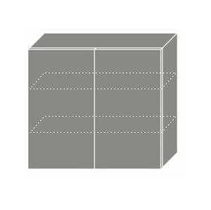 PLATINUM, skříňka horní W3 80, korpus: lava, barva: white stripes