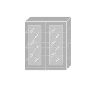 EMPORIUM, skříňka horní prosklená W4S 80, korpus: bílý, barva: light grey stone