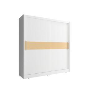 Skříň WIKI V s pruhem 180 cm, bílá