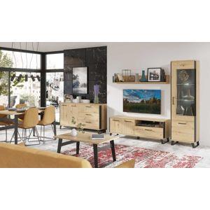 Obývací pokoj LOFT 1, dub artisan/černá