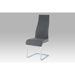 Jídelní židle AC-1817 GREY2, chrom/látka šedá