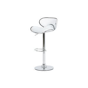 Barová židle bílá koženka / chrom AUB-455 WT