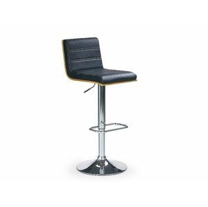Barová židle ZH-31, ořech/černá