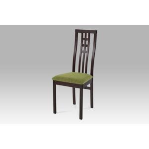 Dřevěná židle BC-12481 BK, wenge,BEZ SEDÁKU