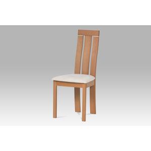 Jídelní židle BC-3931 BUK3, masiv buk, potah krémový