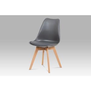 Jídelní židle CT-752 GREY, šedá / masiv buk