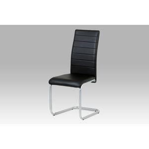 Jídelní židle DCL-102 BK, černá/šedý lak