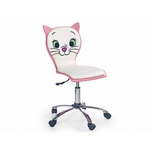 Dětská židle  KITTY II, bílo-růžová