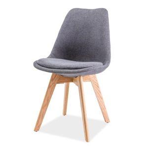 Jídelní židle DIOR, dub/tmavě šedá