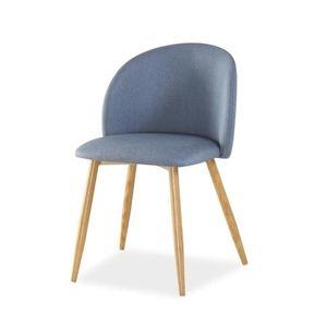 Jídelní čalouněná židle ERIN, denim/dub