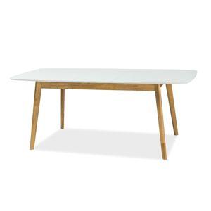 Jídelní stůl rozkládací FELICIO II, bílá/dub