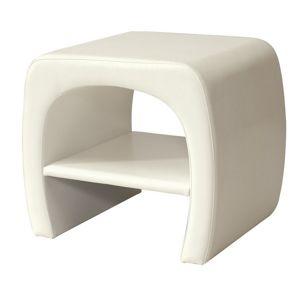 Noční stolek ORLEANS, bílá ekokůže