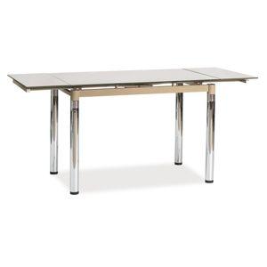 Jídelní stůl GD-018 rozkládací, tm. béžová