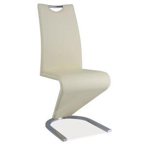 Jídelní čalouněná židle H-090, krémová/chrom