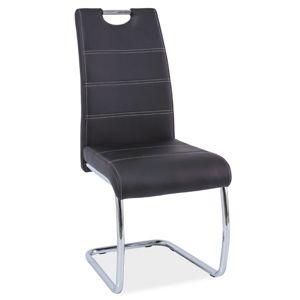 Jídelní čalouněná židle H-666, černá