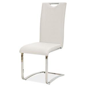 Jídelní čalouněná židle H-790, bílá