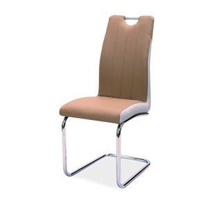 Jídelní čalouněná židle H-342, cappuccino/světlá šedá