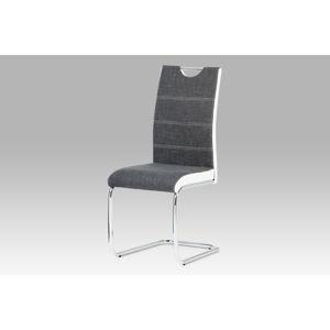 Jídelní židle HC-582 GREY2, šedá/bílá