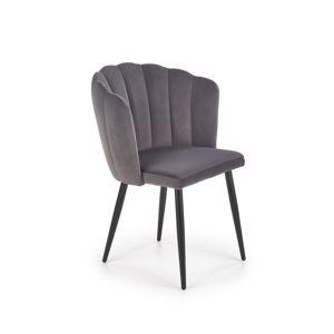 Jídelní židle K-386, šedá