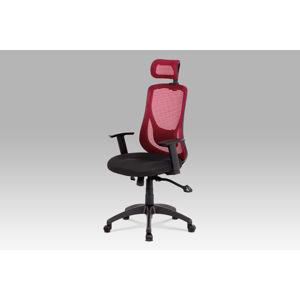 Kancelářská židle KA-A186 RED, černá/červená