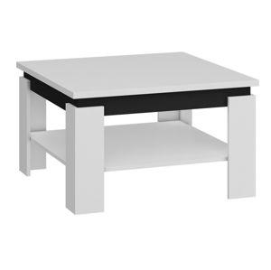 Konferenční stolek ALFA, bílá/černý lesk