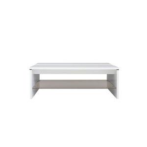 AZTECA, konferenční stolek LAW/4/11, bílý lesk