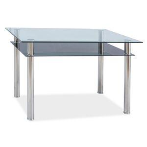 Jídelní stůl MADRAS 120x75, sklo/chrom