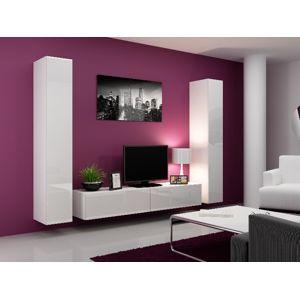 Obývací stěna VIGO 4 B, bílá/bílý lesk