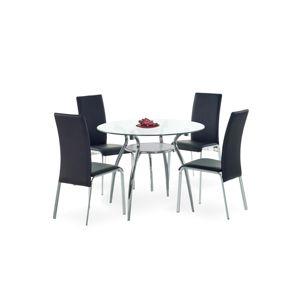 Jídelní stůl ADAM, kov/sklo