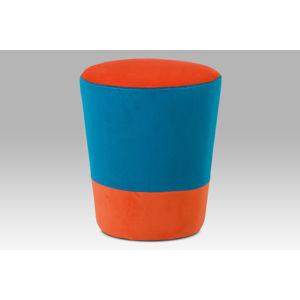 Taburet TAB-106 ORA2, oranžová / modrá