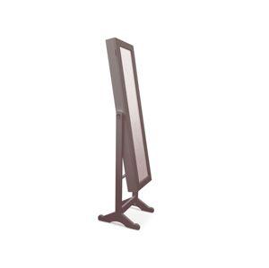 Zrcadlo s úložným prostorem MIROR, tmavě hnědá